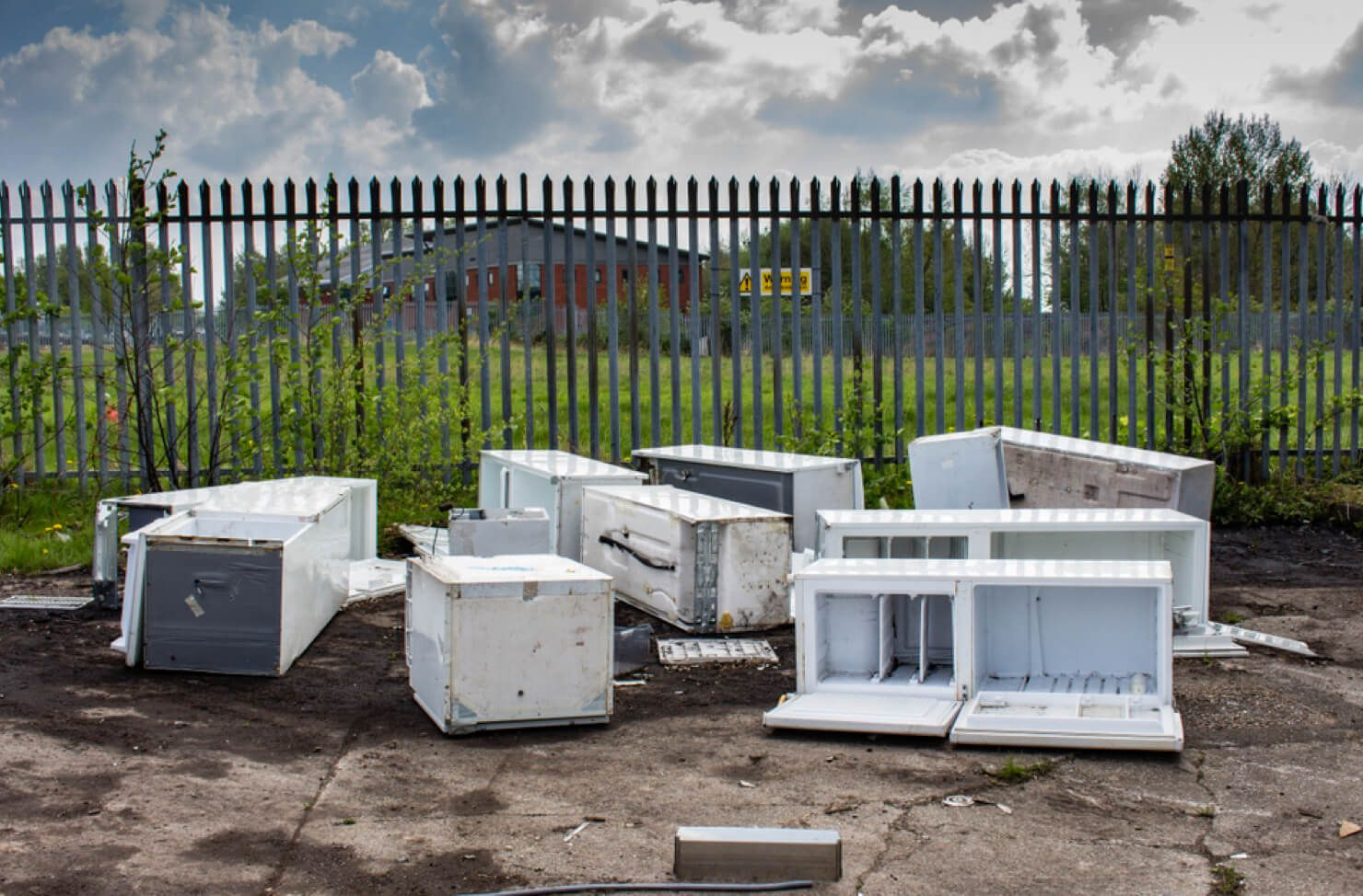 White goods fly-tipping