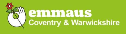 Emmaus Coventry Sofa charity
