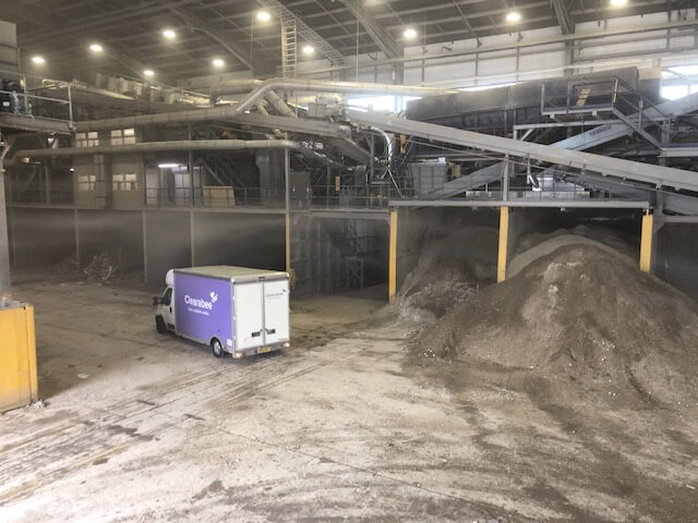 Clearabee van in a waste facility