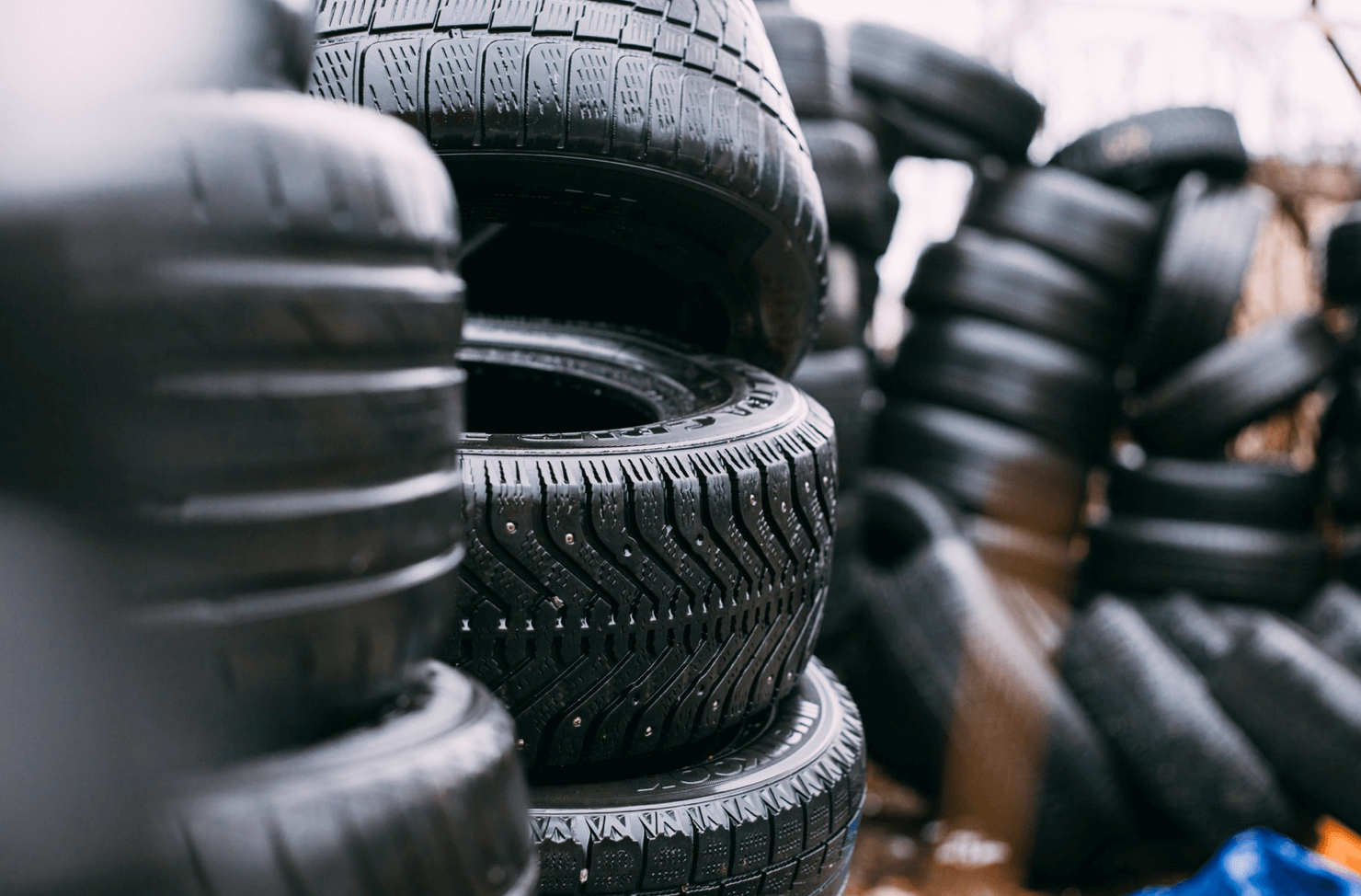 piles of tyres