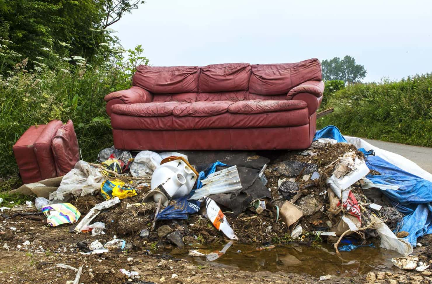 sofa fly-tipped