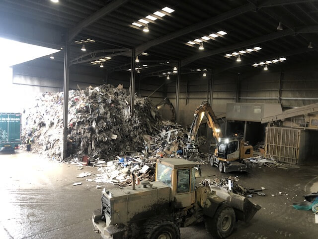 waste being moved
