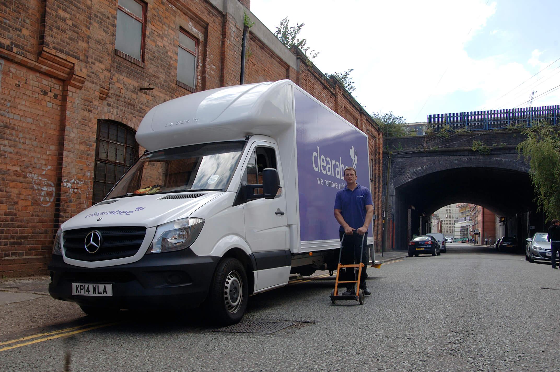 removal van on a roadside