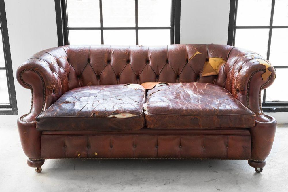 wrecked sofa
