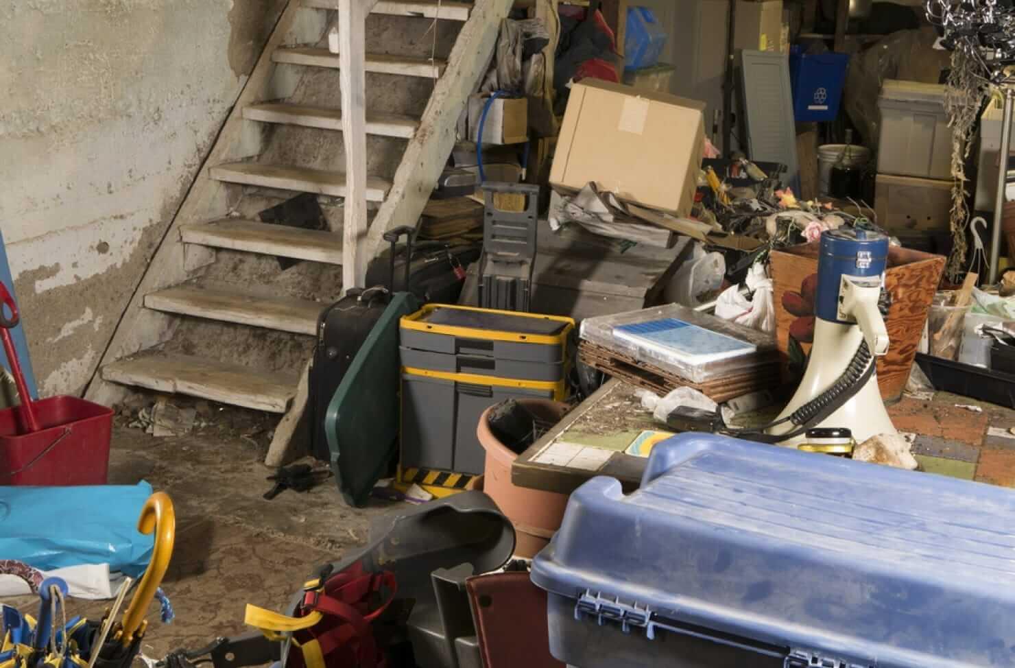 untidy basement