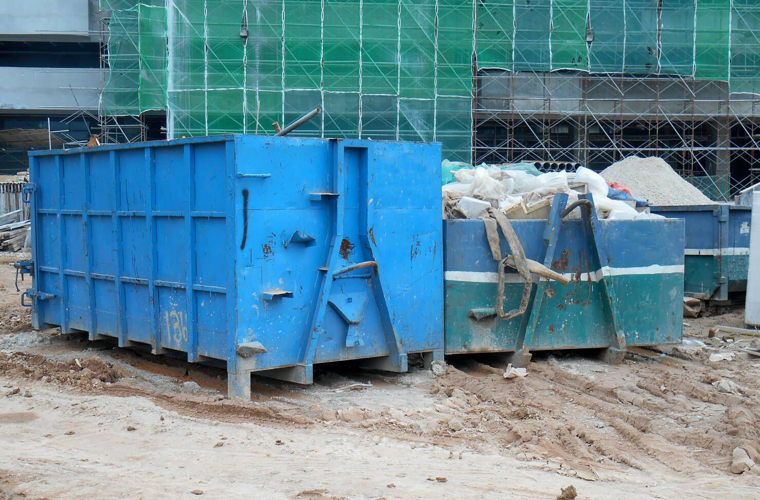 RoRo skips building site