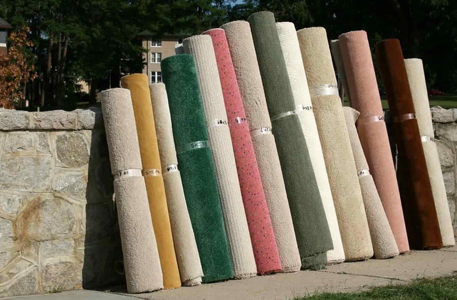 rolled carpet