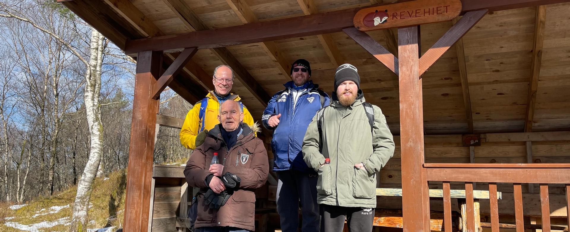 Fire av miljøpatruljens medlemmer i aksjon