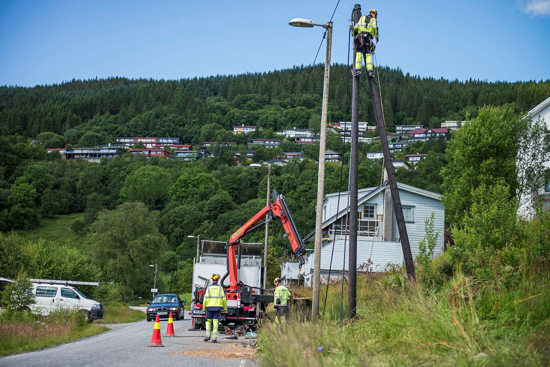 Melding om installasjonsarbeid i strømnettet