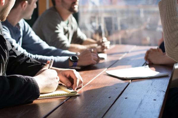 Our team brainstorming sales strategies