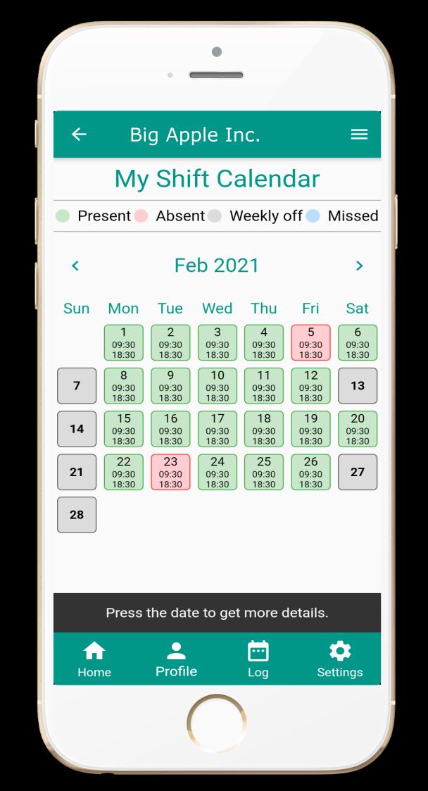 shift planner - shift based attendance