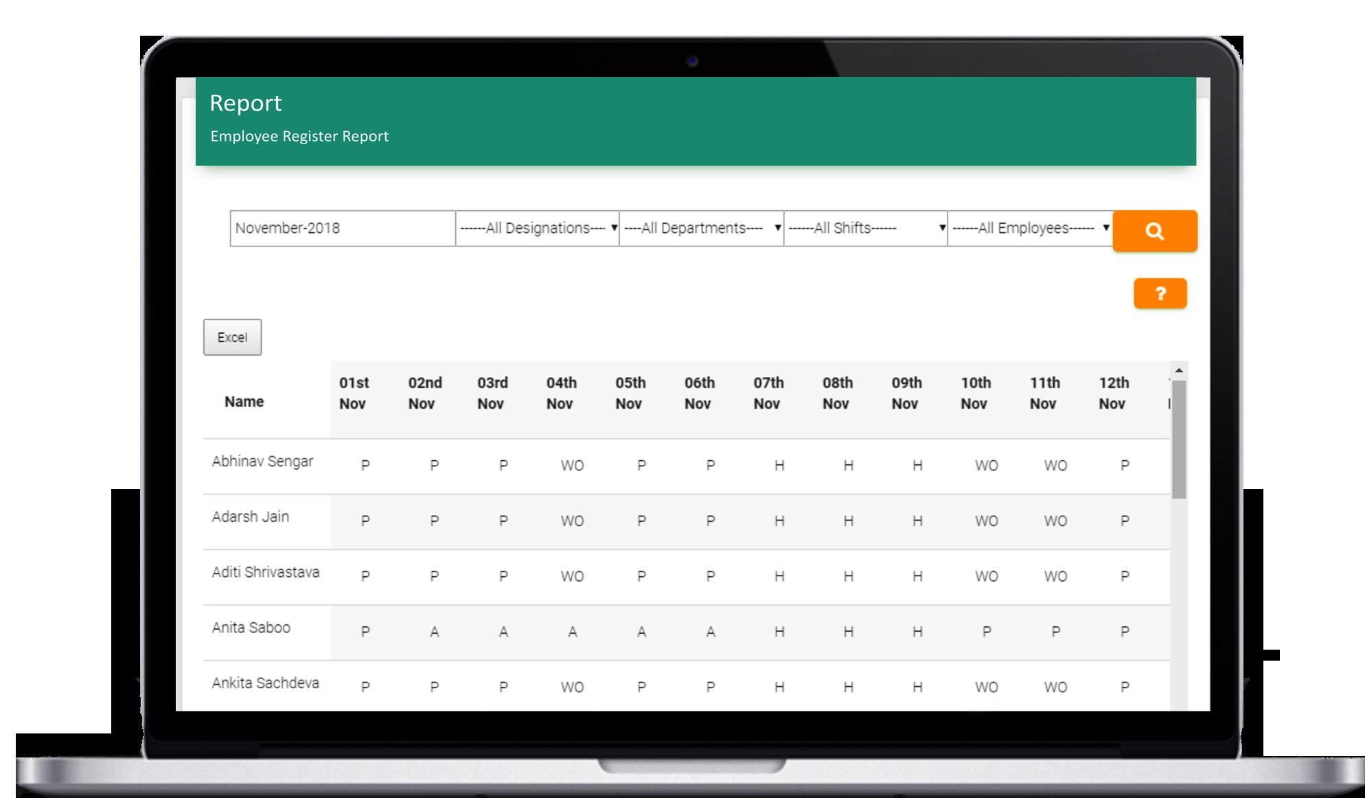 Attendance Tracker App - attendance report summary