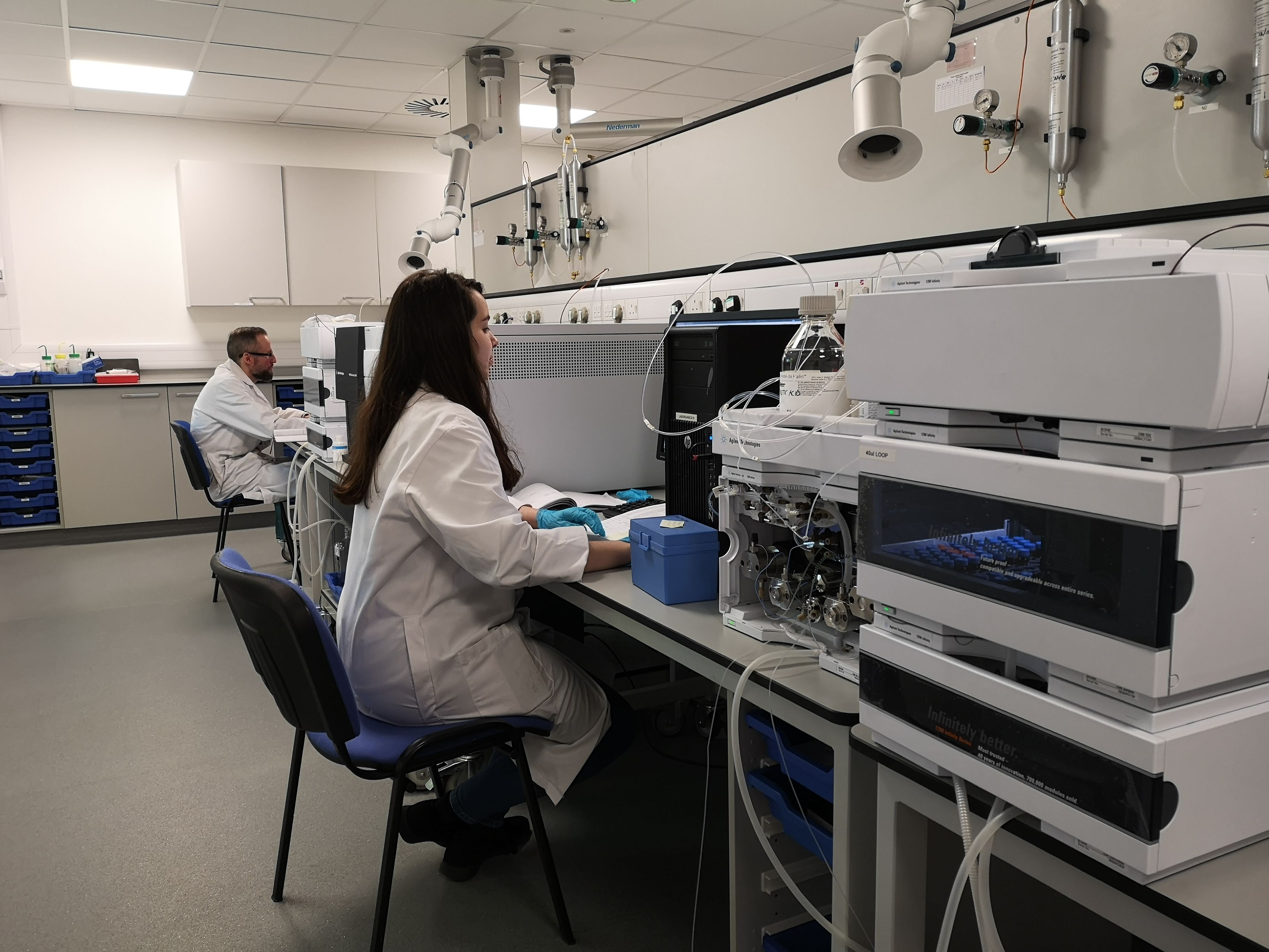 Technicians working in the lab