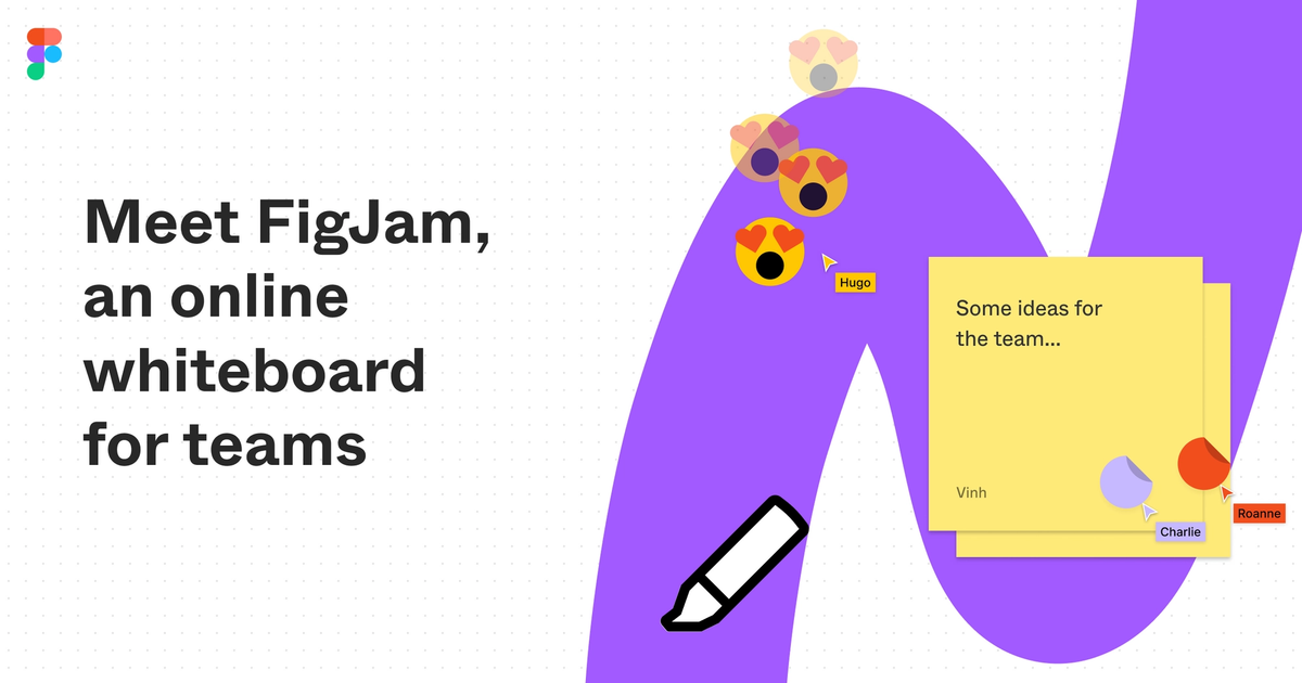 FigJam is an online whiteboard for teams to explore ideas together