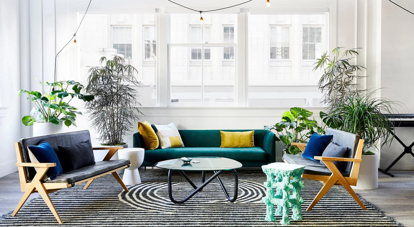 Attractive, relaxed sitting area at the Figma office