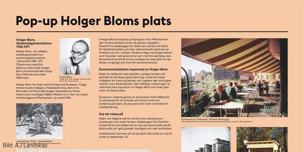Pop Up-park, Holger Bloms plats