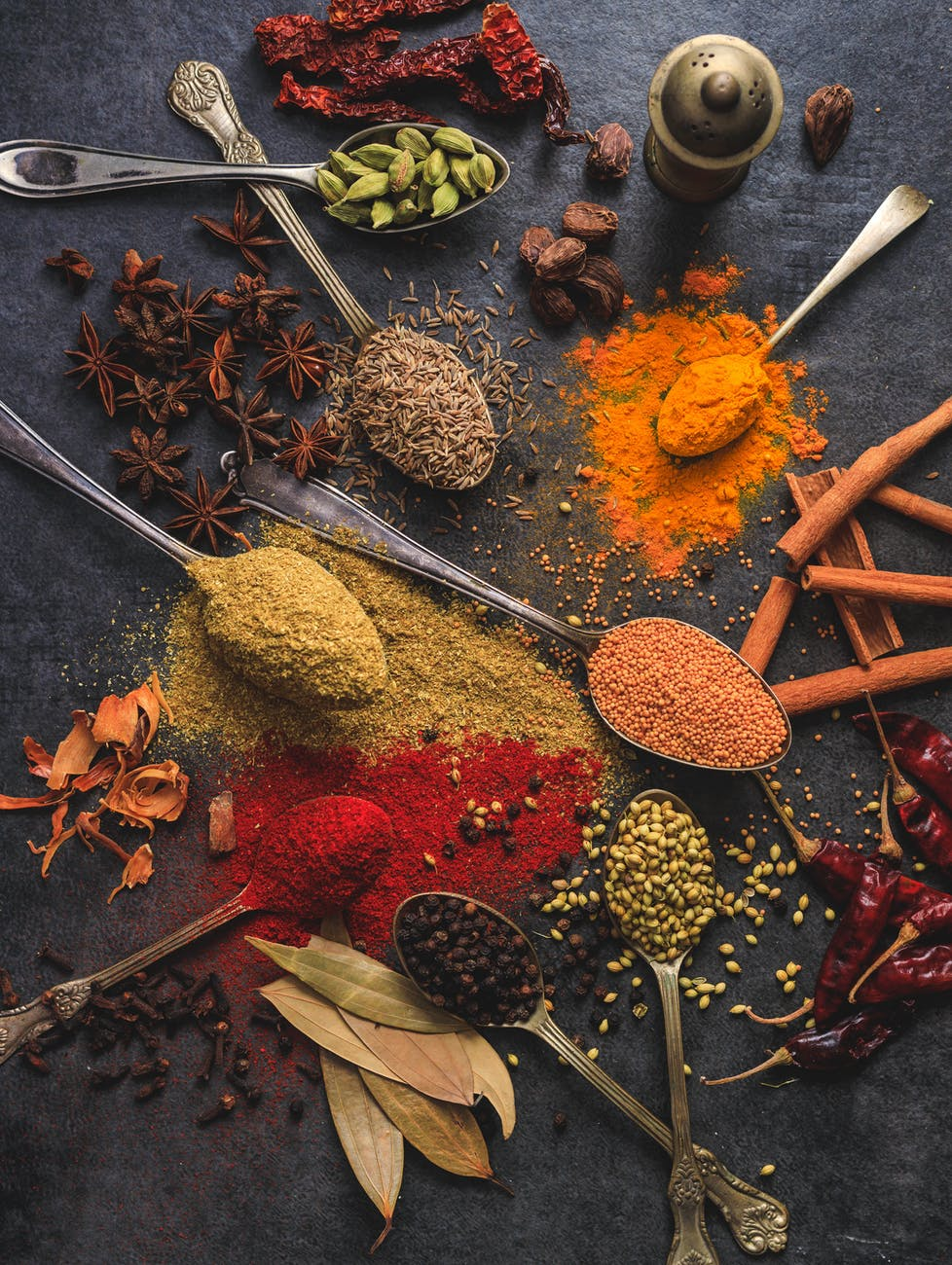 An assortment of various spices