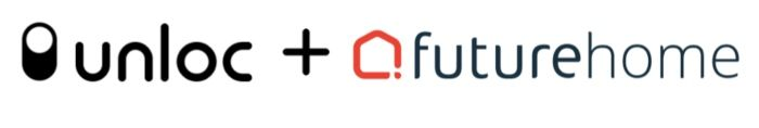 The Unloc and Futurehome logos