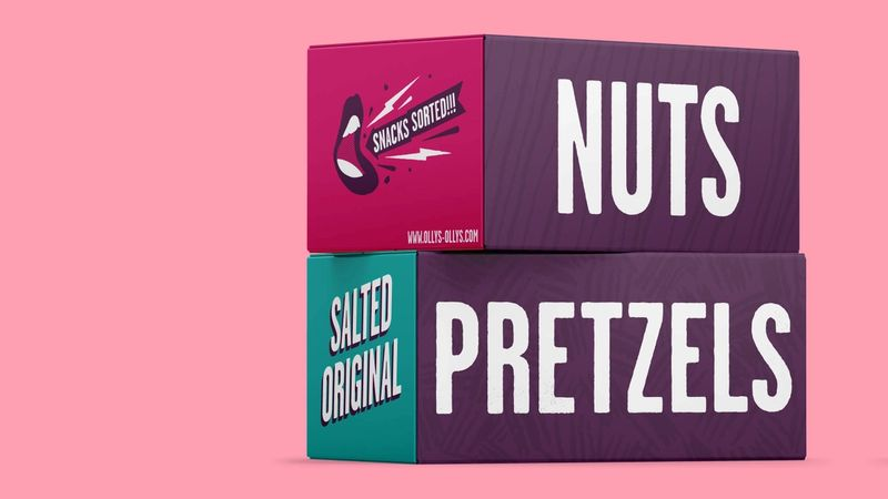 Nuts and Pretzels packaging