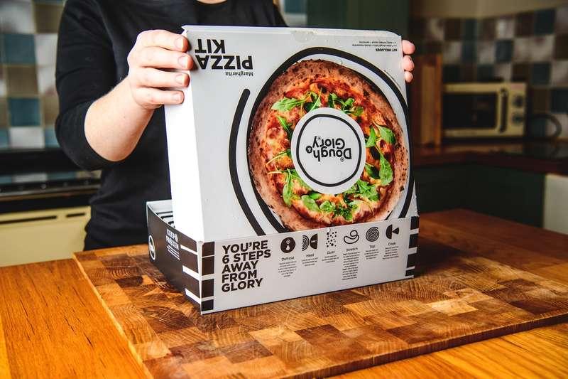 Opening Dough & Glory pizza kit