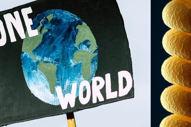 One world climate strike poster