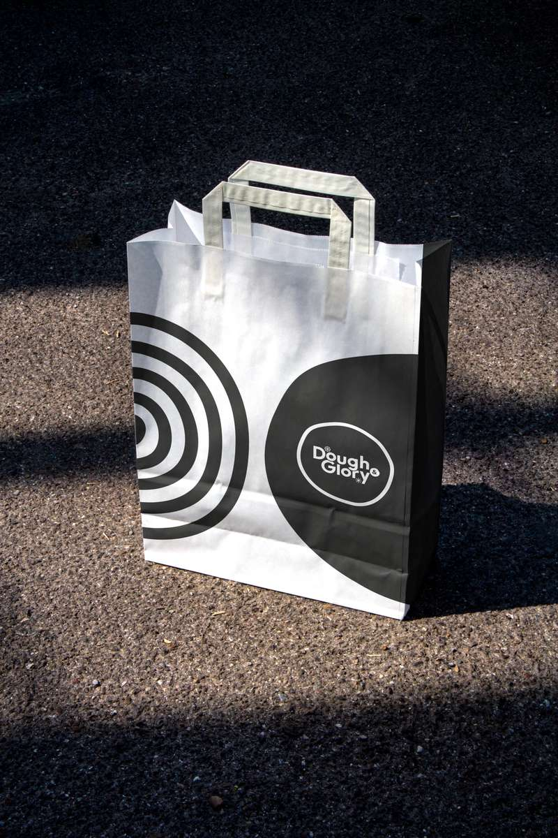 Dough & Glory paper bag