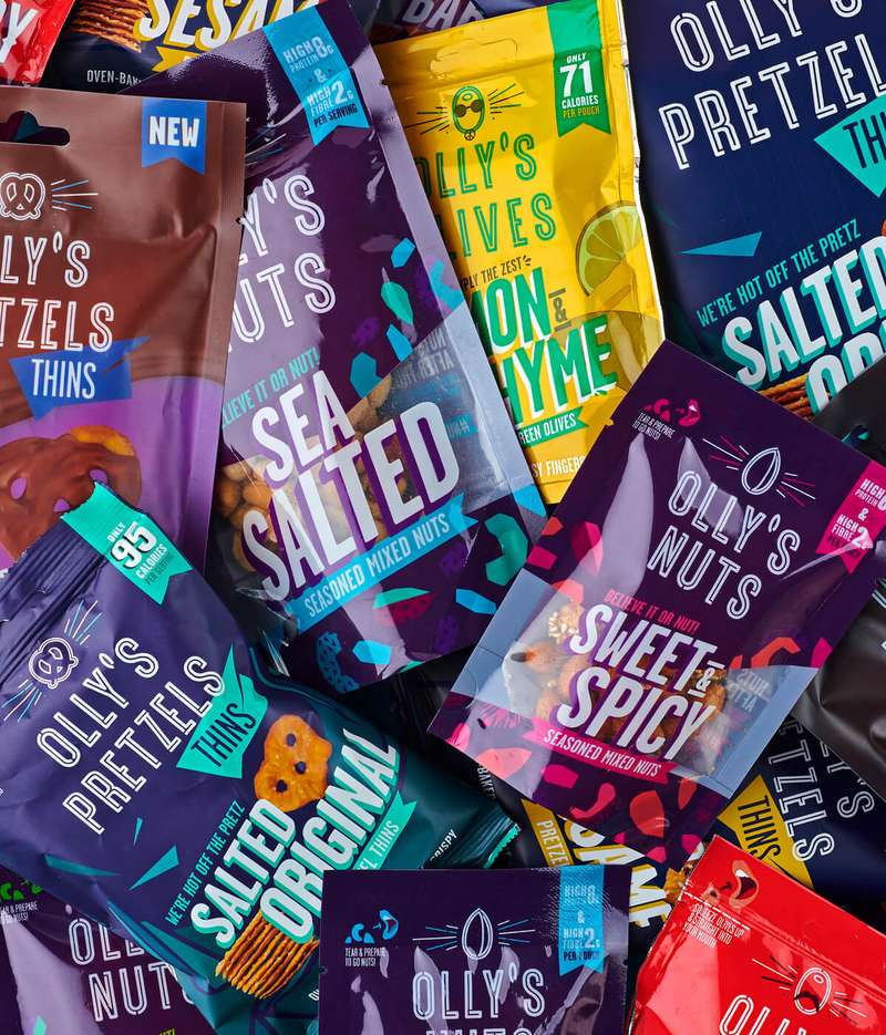 All the Olly's flavours
