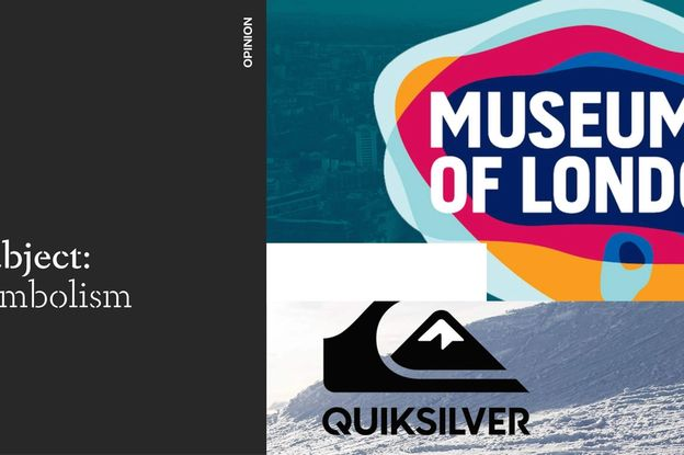 Subject symbolism, Quicksilver wave and mountain logo, Museum of London logo