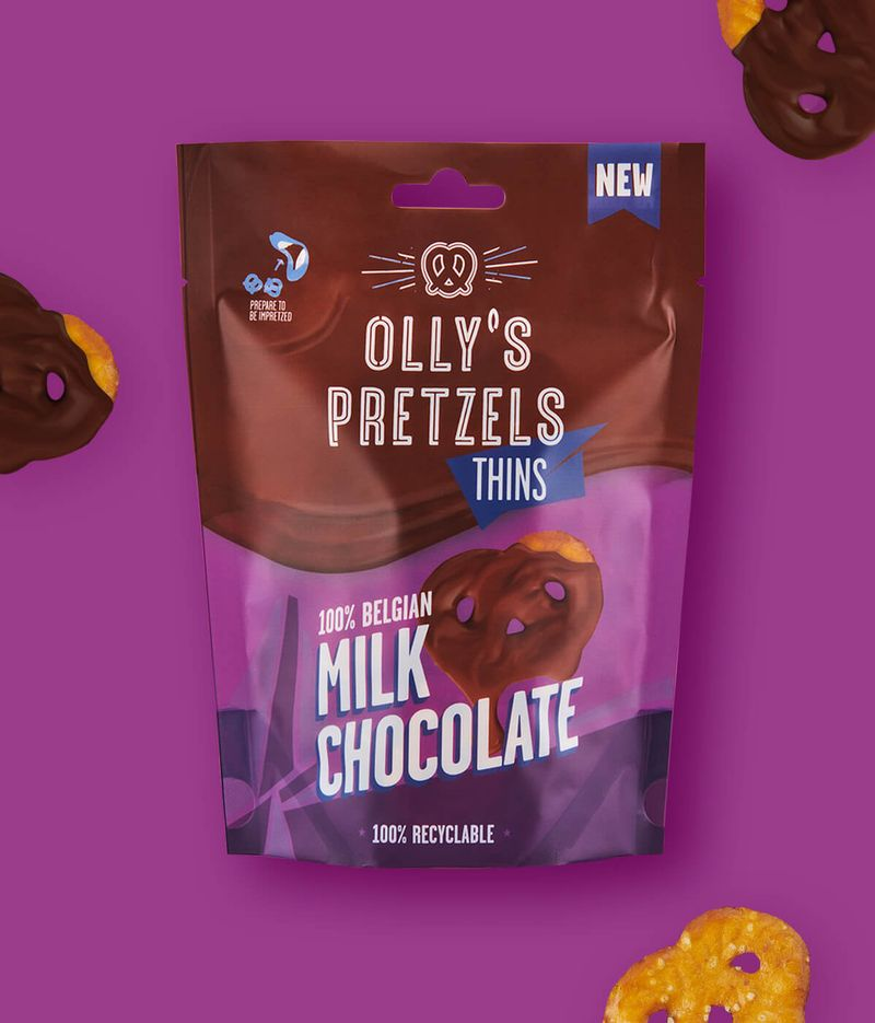 Olly's Pretzels Thins Milk Chocolate