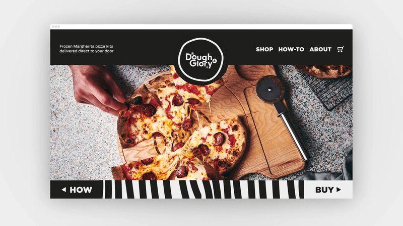 Dough & Glory website mockup desktop