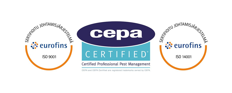Anticimexille Cepa sertifikaatti
