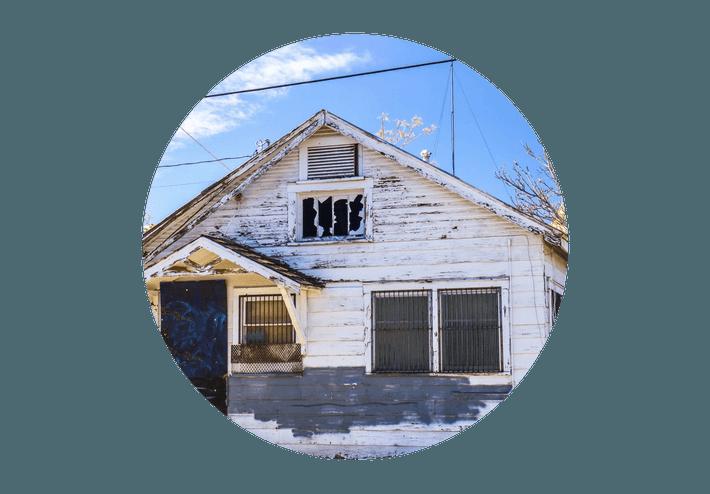 Casa llena de termitas