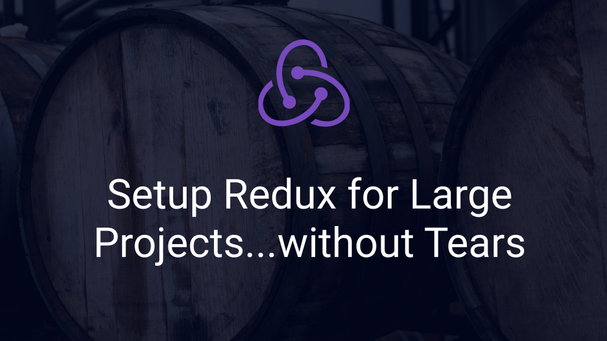 Barrels with article title and redux logo as caption