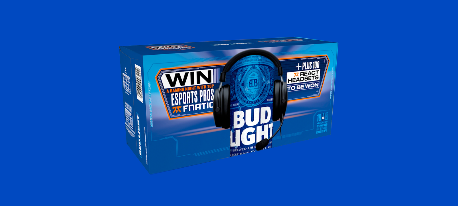 A fnatic sponsored crate of bud light