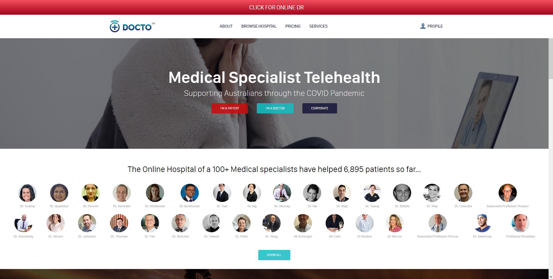 Docto.com.au Australias Best Online Doctor