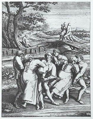 Gravure : épidémie de danse à Strasbourg