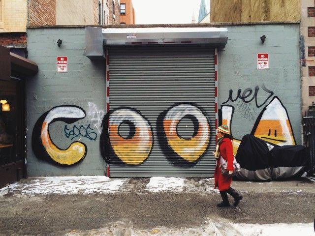 Tag cool sur mur en béton