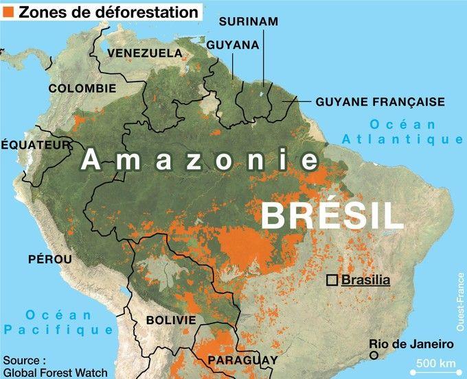 Localisation de la Guyane Française