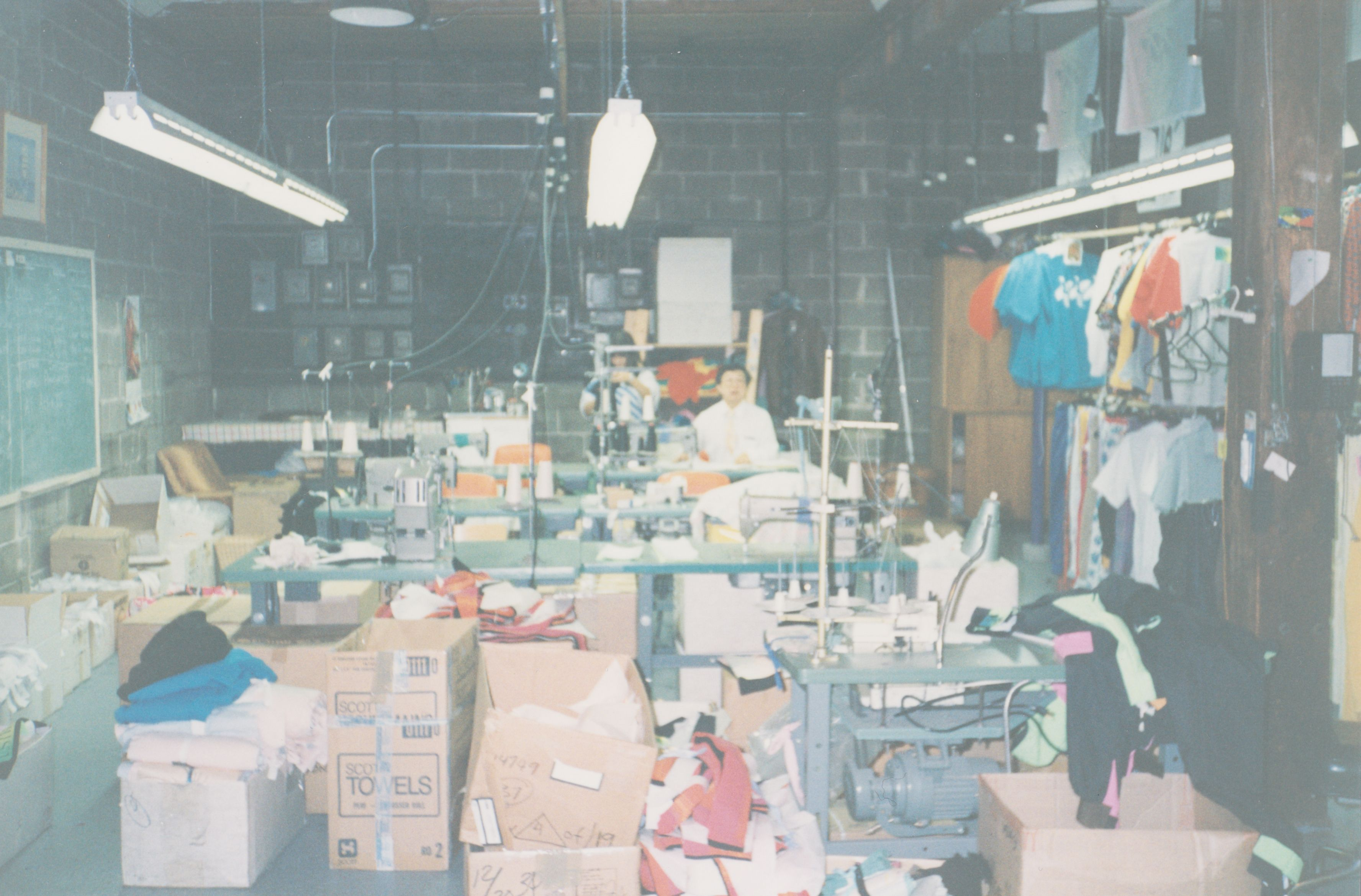 First factory inside Westbeach store, Vancouver 1989