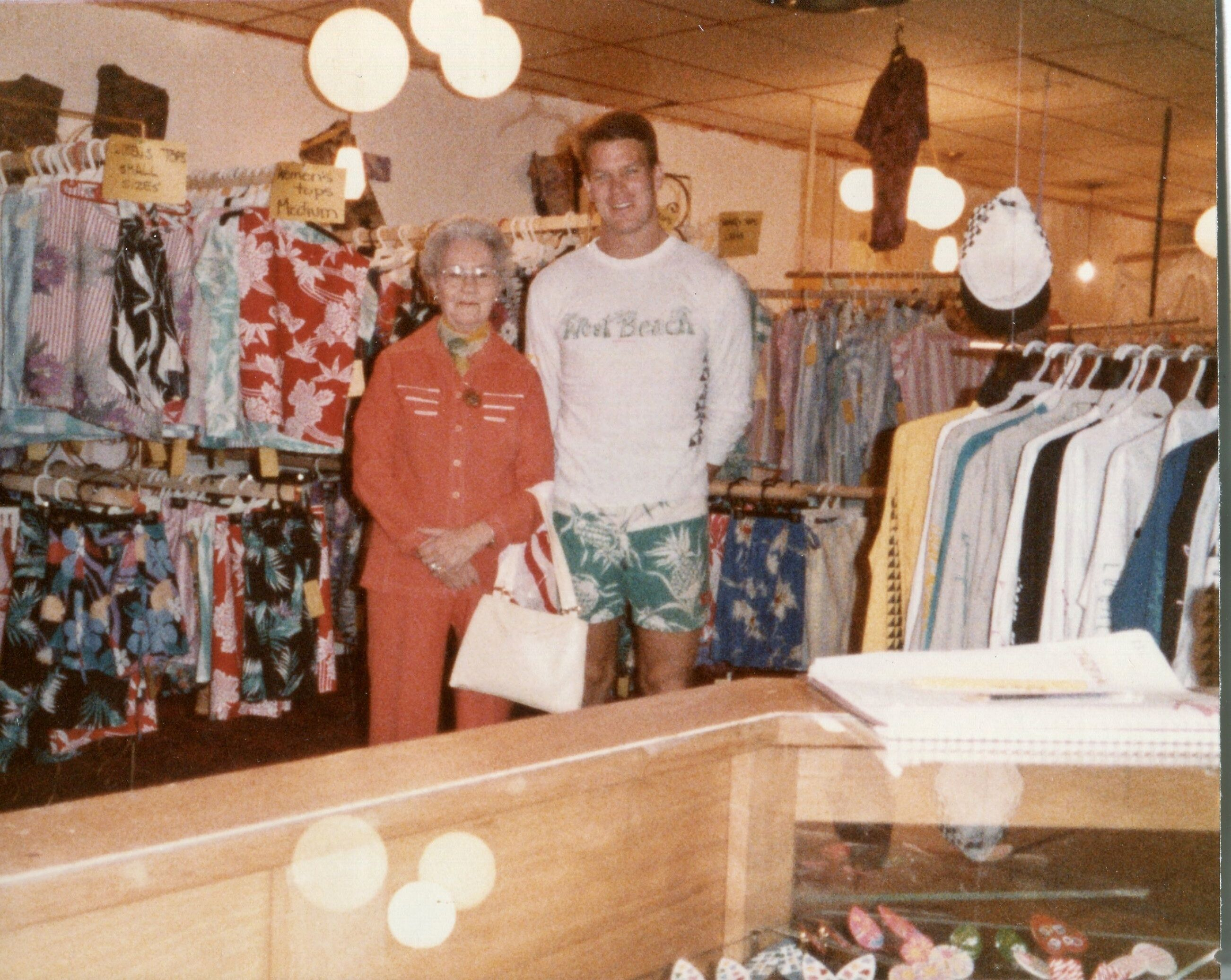 With my Nana at the first Westbeach store, Calgary 1981