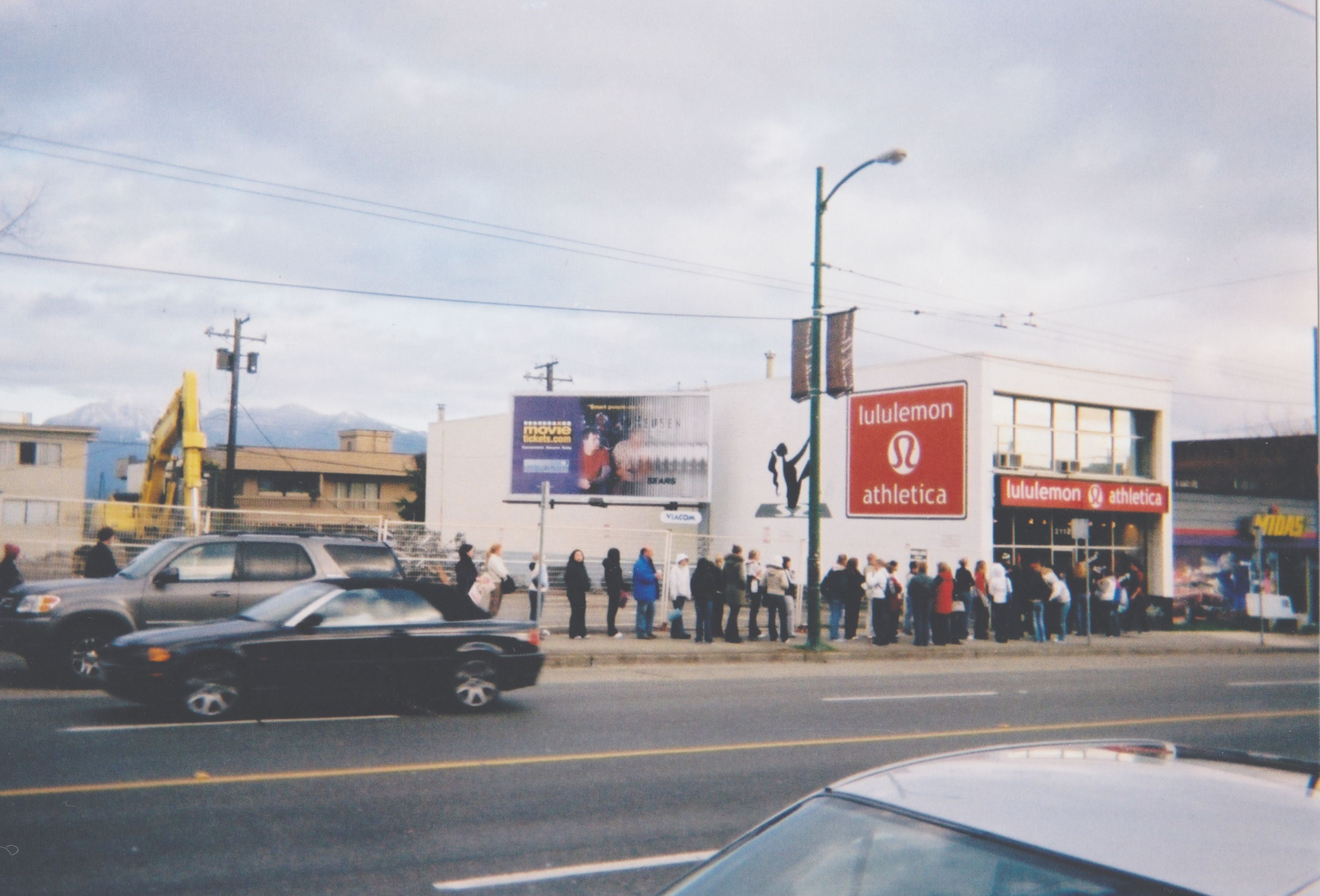 Lululemon store 6 months after opening – lines down the street, 2001