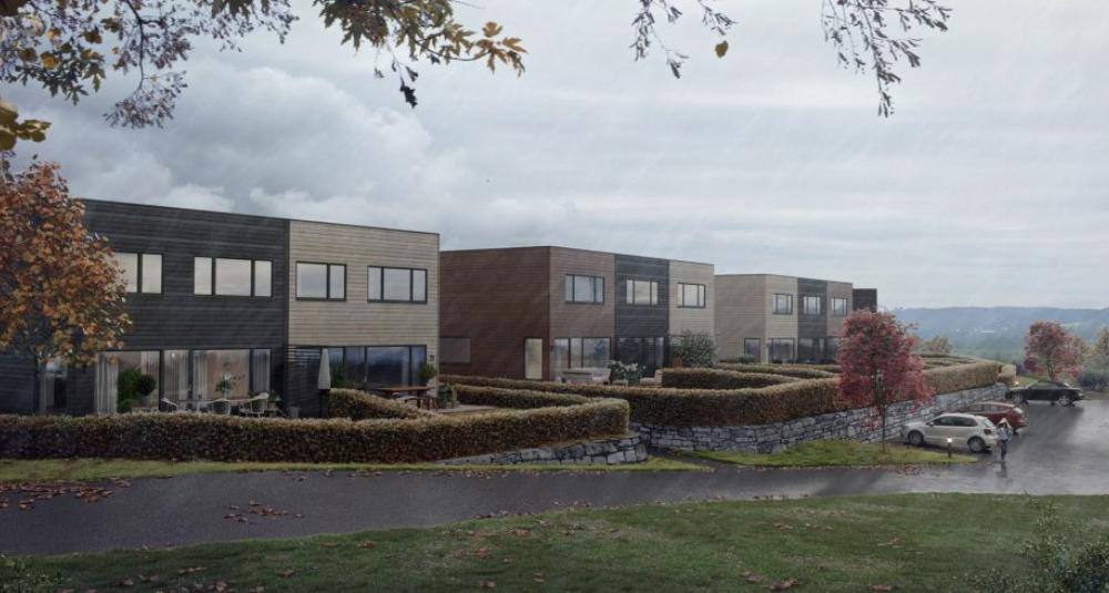 Lier Hageby ligger i frodige omgivelser. Elektrisk anlegg er installert av Buskerud Elektro AS.