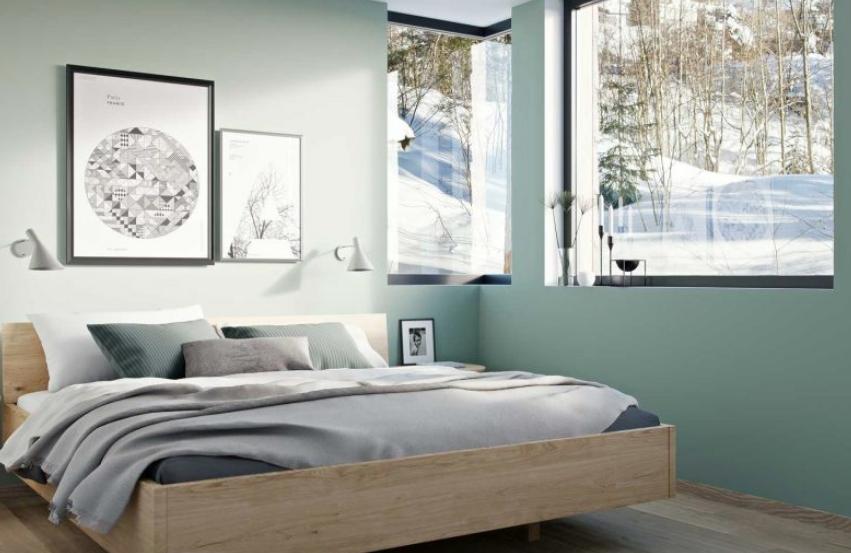 Soverommet i Krags Vei 4, med elektriske installasjoner gjort av Buskerud Elektro.