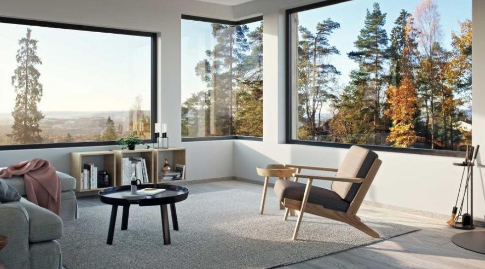 Stuen i Krags Vei 4, med elektriske installasjoner gjort av Buskerud Elektro.