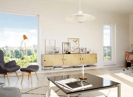 Ny bolig levert av Buskerud Elektro, hos Jessheim Hage.