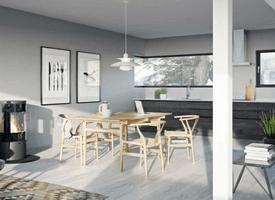 Kjøkkenet i Krags Vei 4, med elektriske installasjoner gjort av Buskerud Elektro.