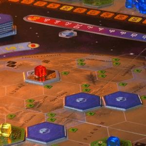 Obszary rozłożone na planszy. (Terraformacja Marsa)