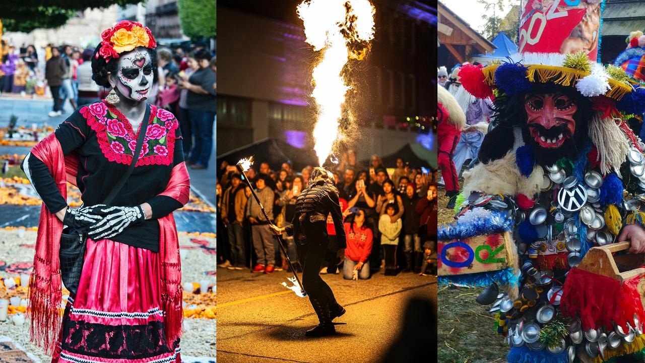 Kolaż trzech zdjęć z festiwali
