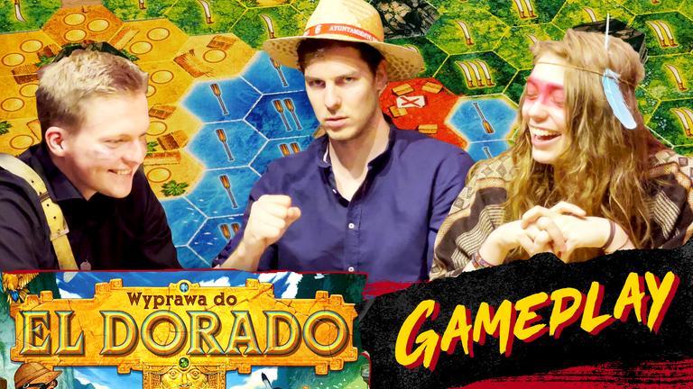 Kamis, Madzia i Wojtek grają w Wyprawę do El Dorado