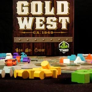 Pudełko i elementy gry (Gold West)